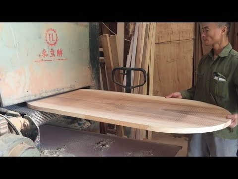 Amazing Hardwood Processing Techniques - Buil A Dining Table Top Oval, Extremely Easy, How To, DIY