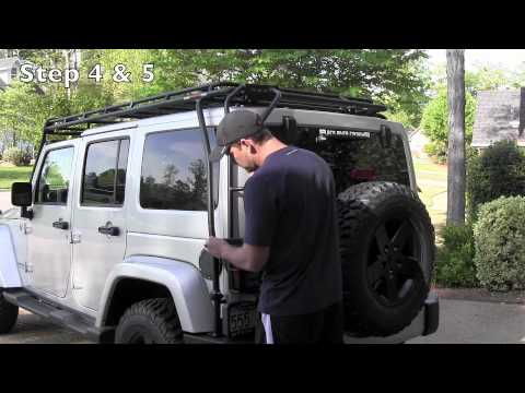 gobi roof rack install and hard top lift