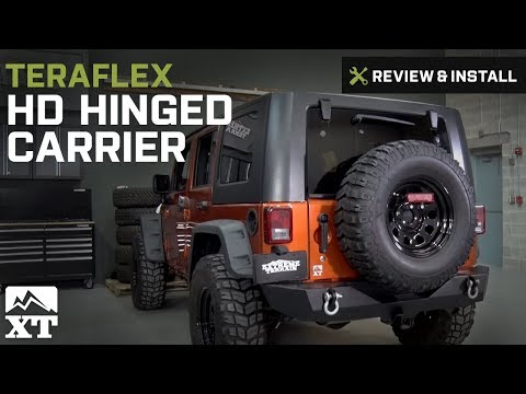 Jeep Wrangler Teraflex HD Hinged Carrier w/ Adjustable Tire Mount (2007-2017 JK) Review & Install