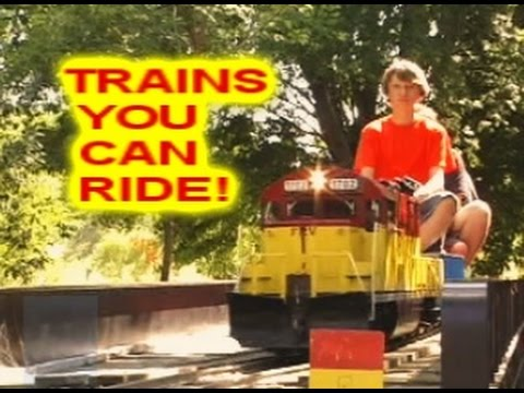 - TRAINS You Can Ride Outdoors Lots & Lots Of Trains For Kids - YouTube