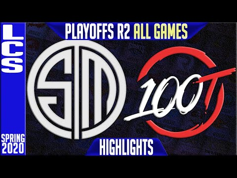 TSM vs 100 Highlights ALL GAMES   LCS Spring 2020 Playoffs Round 2   Team Solomid vs Hundred Thieves