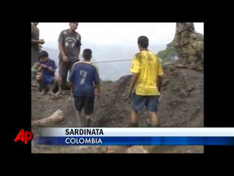 Raw Video: Colombia Mine Explosion Kills Five