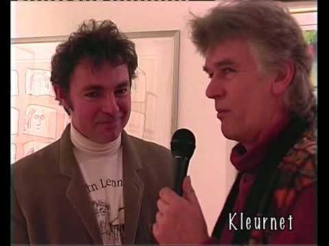 John Lennon exposition at Galerie Boomerang: Hans Plomp & Peter Madden, Dec. 20, 2000