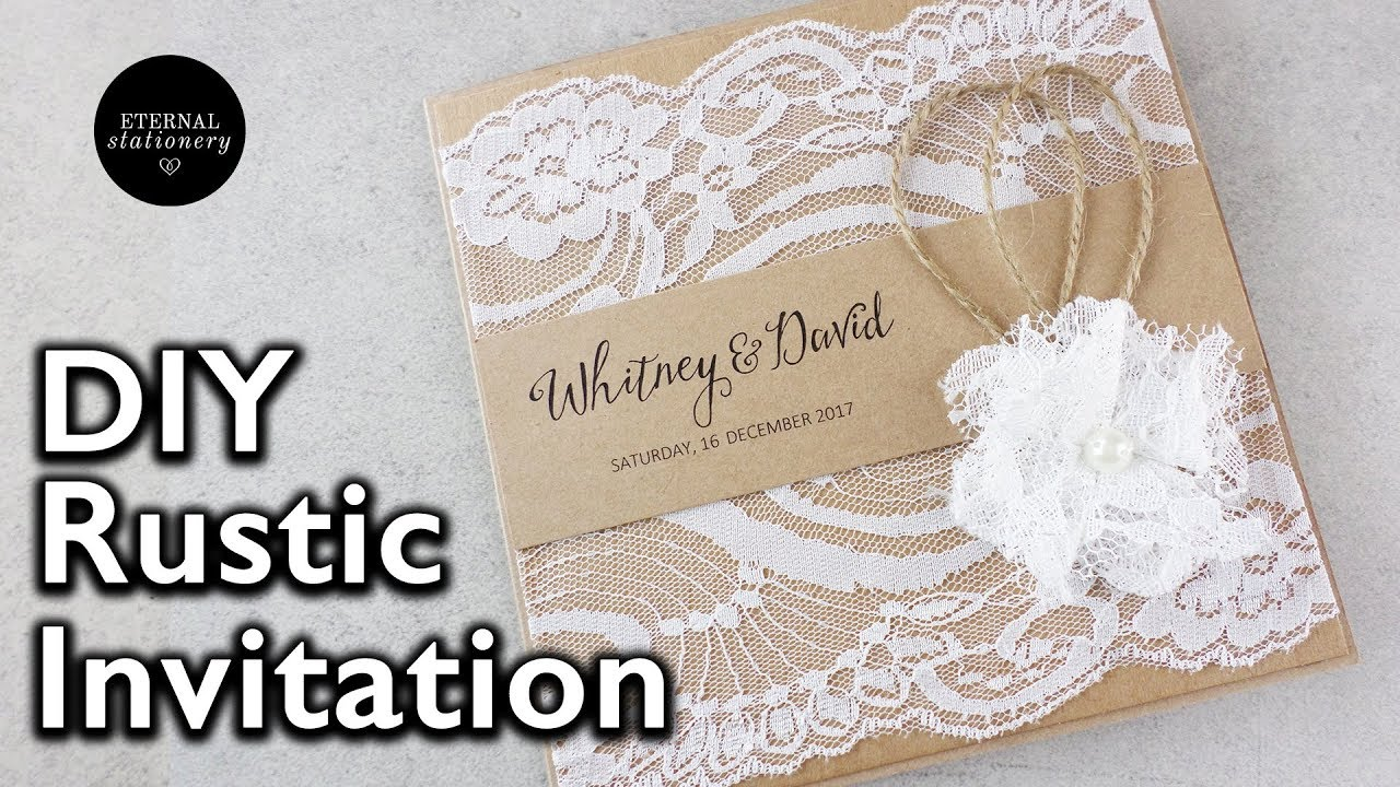 How to make a rustic style lace wedding invitation | DIY invitations ...