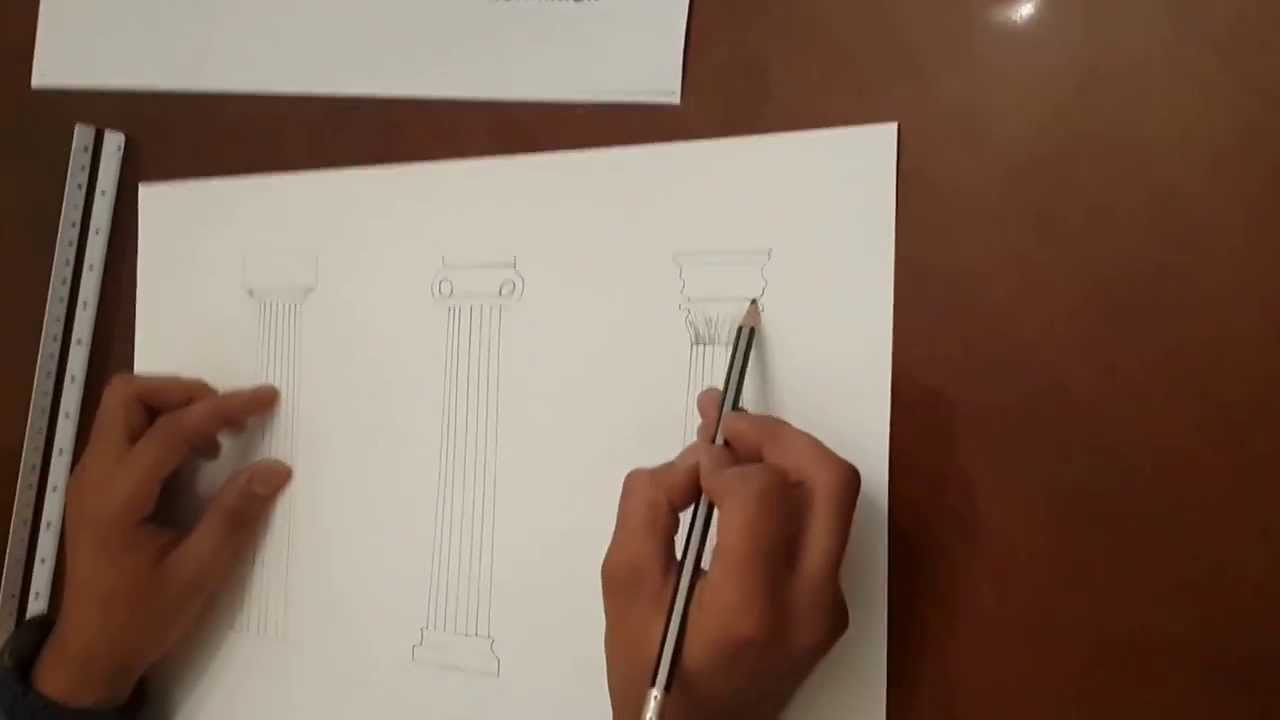 Comparative thoughts  Greek Columns Drawing  YouTube