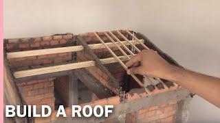 HOW TO BUILD A  ROOF-----MODEL-----Como construir un tejado