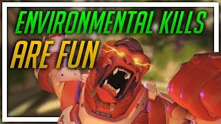 [Overwatch] Environmental Kills Are Fun (Winston, some Hanzo/Mei)