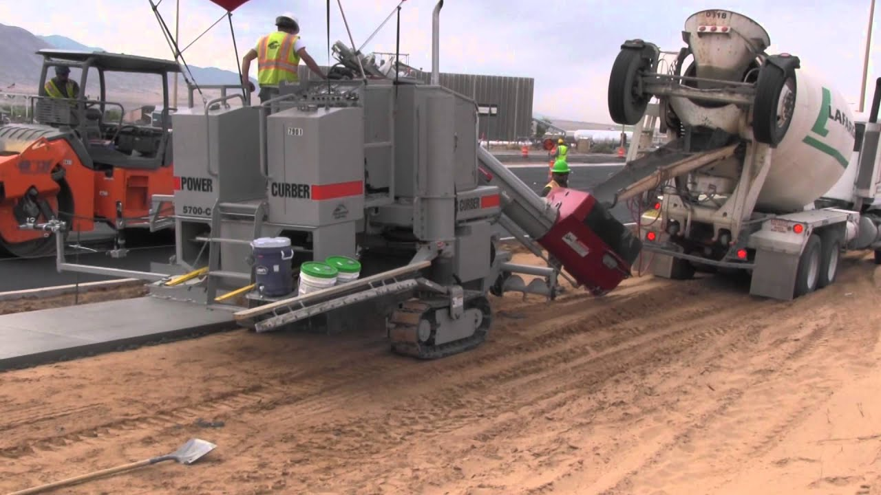 Power Curber 5700 C Pouring Sidewalk Youtube