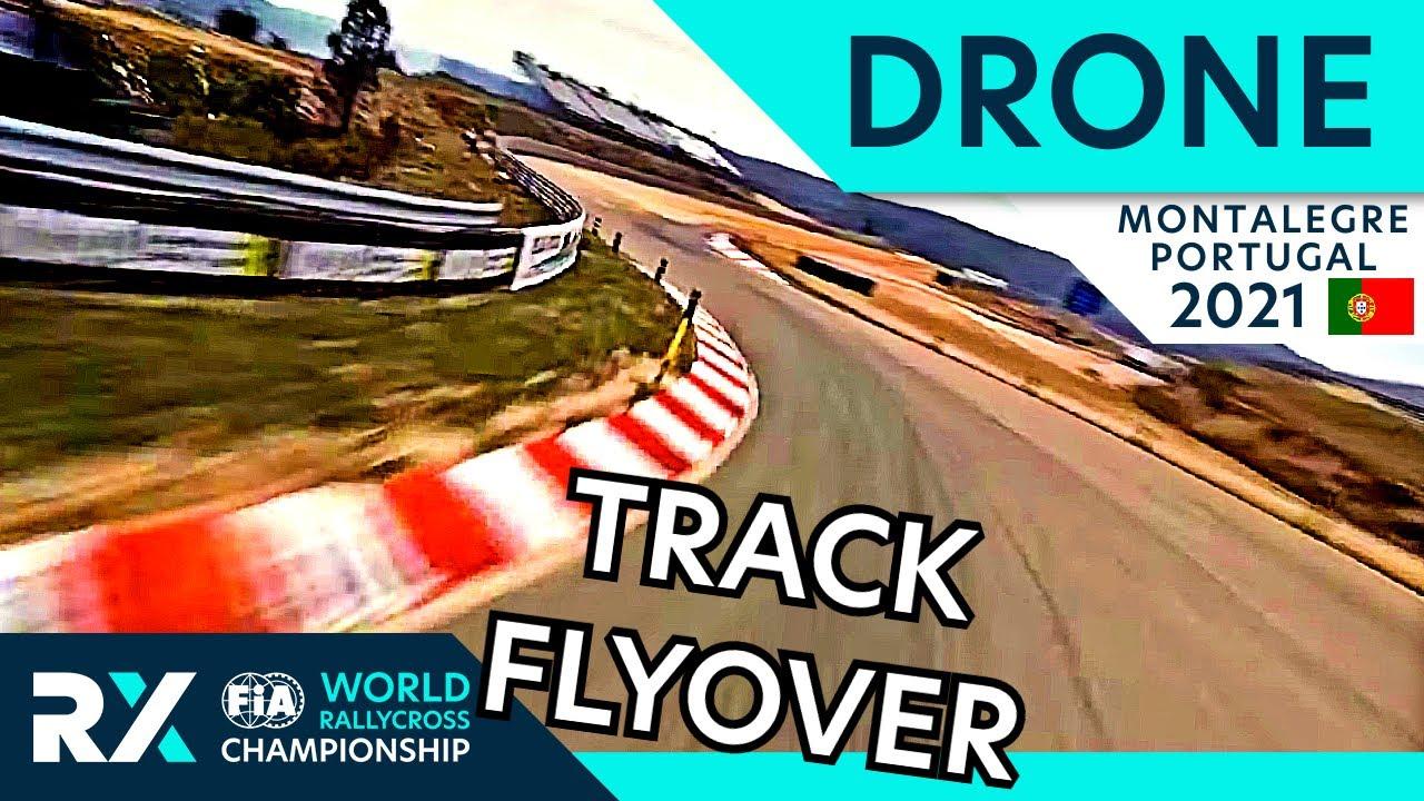 FPV Drone flight over Montalegre Rallycross track : Cooper Tires World RX of Montalegre 2021