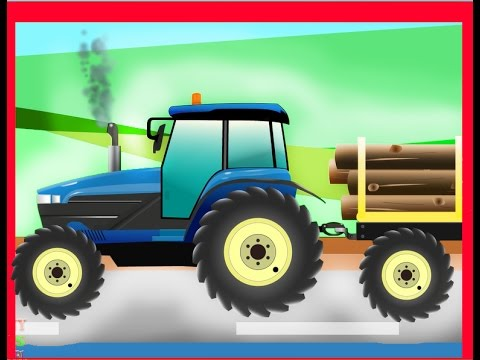 kids tractor tractor cartoon video for children traktors for kids funny kids channel