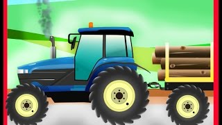 Kinder Traktor, Traktor Cartoon-Video Für Kinder Traktors Für Kinder-Lustige Kinder-Kanal