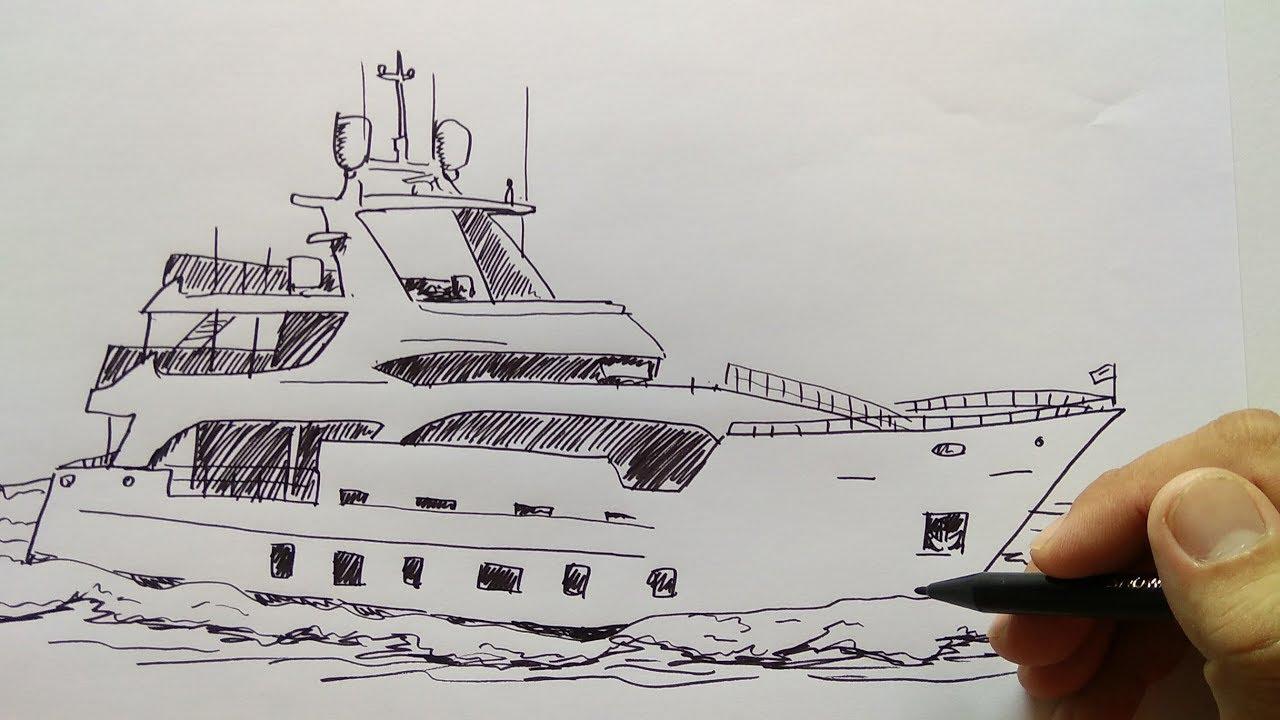 Cara Menggambar Kapal Persiar Mewah