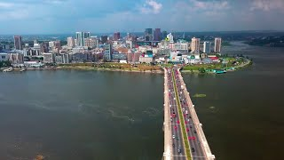 Aerial View Of Abidjan. Economic Capital Of Côte D'Ivoire
