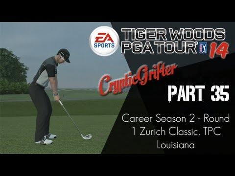 Tiger Woods 14 - Part 35 (Career Season 2 - Round 1 Zurich Classic, TPC Louisiana)