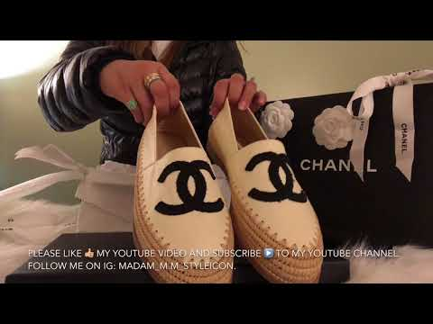 CHANEL Shoes Unboxing | Espadrilles from the Cruise 2017/2018 Collection