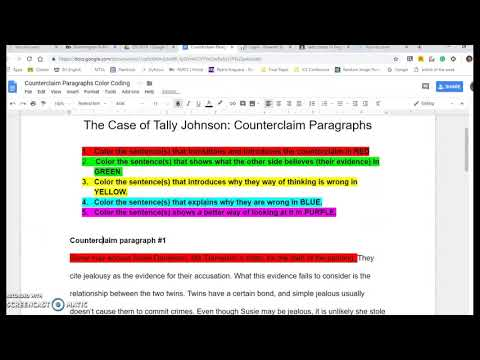 counterclaim paragraph