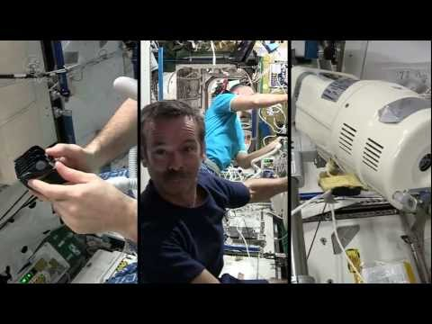 Chris Hadfield's ISS: International Space Salon! (A haircut in space)