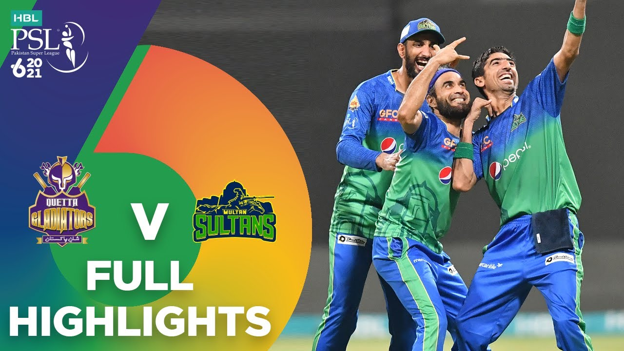 Download Full Highlights | Multan Sultans vs Quetta Gladiators | Match 25 | HBL PSL 6 | MG2T