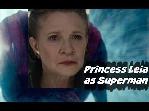 The Last Jedi Ending >> Princess Leia Flying Superman - The Last Jedi - Star Wars - YouTube