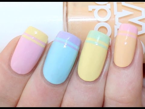 Double French Tip Nail Art Tutorial