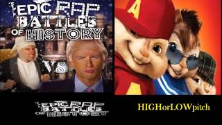Donald Trump vs Ebenezer Scrooge. Epic Rap Battles of History Season 3. CHIPMUNKS  version