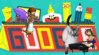 День знаний 1 Сентября Google сделал Doodle