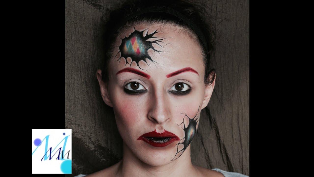 harlequin makeup tutorial saubhaya makeup. Black Bedroom Furniture Sets. Home Design Ideas
