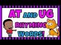 SPELLING WORDS FOR KIDS - KINDERGARTEN WEEK 1 - At and Ug Rhyming Words