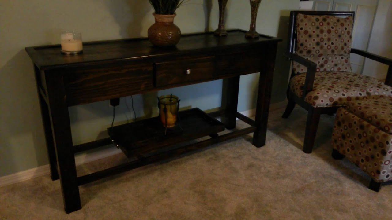 6 Foot Sofa Table With Led Lights And Remote Control You