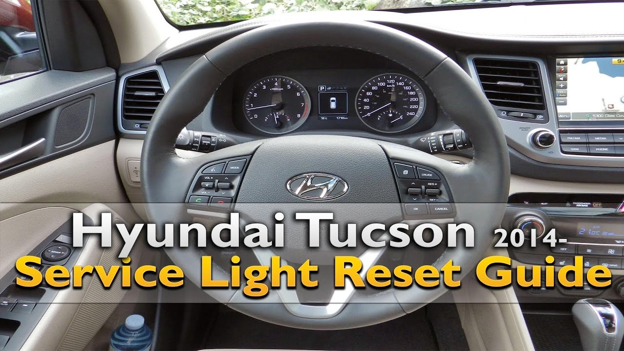 Hyundai Tucson Service Light Reset Youtube