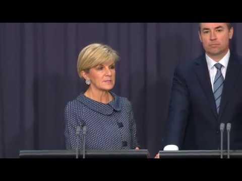 Julie Bishop Announces Passport Cancellation of 20,000 People on Child Sex Offender Registry