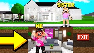 My SISTER Trapped Me In Her UNDERGROUND BASEMENT.. (Roblox Bloxburg)