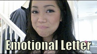 An Emotional Letter From My Husband - November 27, 2015 - ItsJudysLife Vlogs