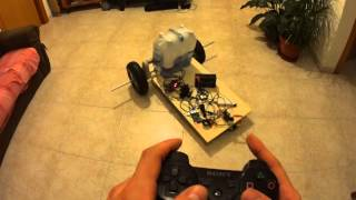 Wheeled robotic platform - RaspberryPi2 + MyRobotlab + PS3 Controller over Bluetooth