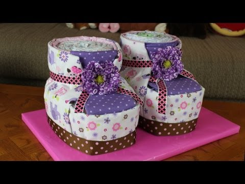 Diaper Cake Baby Booties How To Make