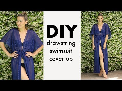 DIY: Drawstring Swimsuit Cover Up (NO PATTERN!) - By Orly Shani