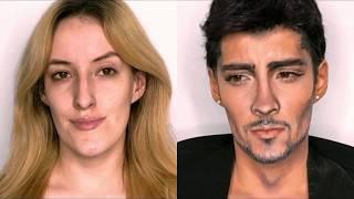0b0d9f3813a 1D Zayn Malik Makeup Transformation - Vloggest