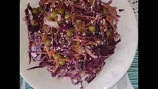 Вкусный и полезный салат из красной капусты...