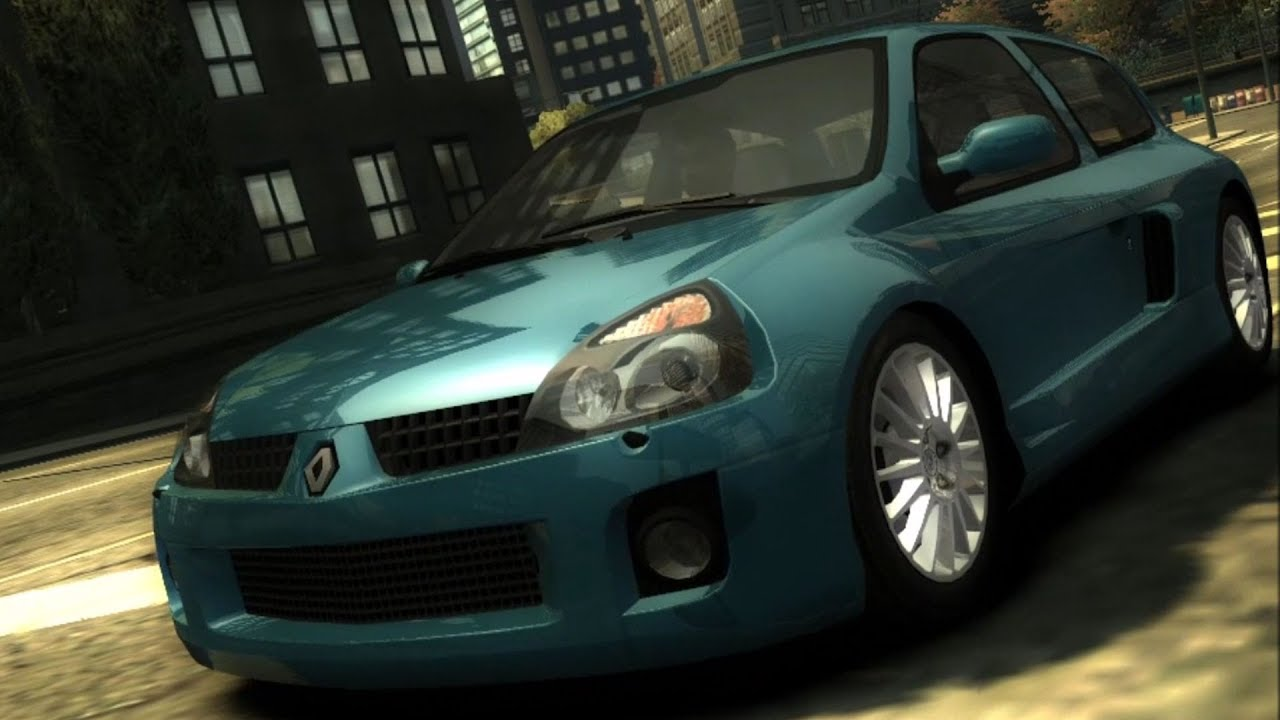 need for speed most wanted renault clio v6 test drive gameplay hd 1080p60fps youtube