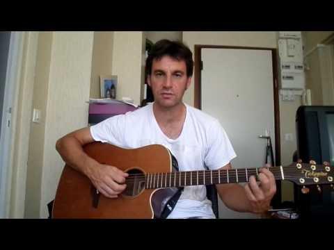 Jean Louis Aubert - Alter ego - comment jouer tuto guitare YouTube En Français