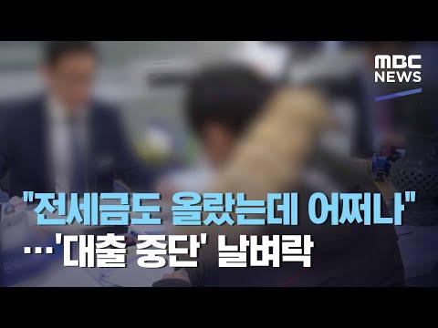 """""""전세금도 올랐는데 어쩌나""""…'대출 중단' 날벼락 (2020.12.23/뉴스데스크/MBC)"""