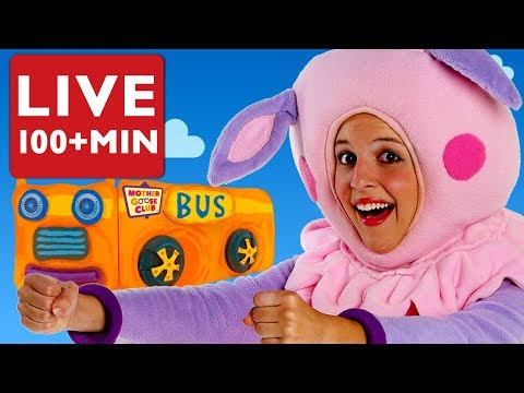 LIVE Nursery Rhymes | Wheels on the Bus and More Nursery Rhymes by Mother Goose Club | Songs Kids