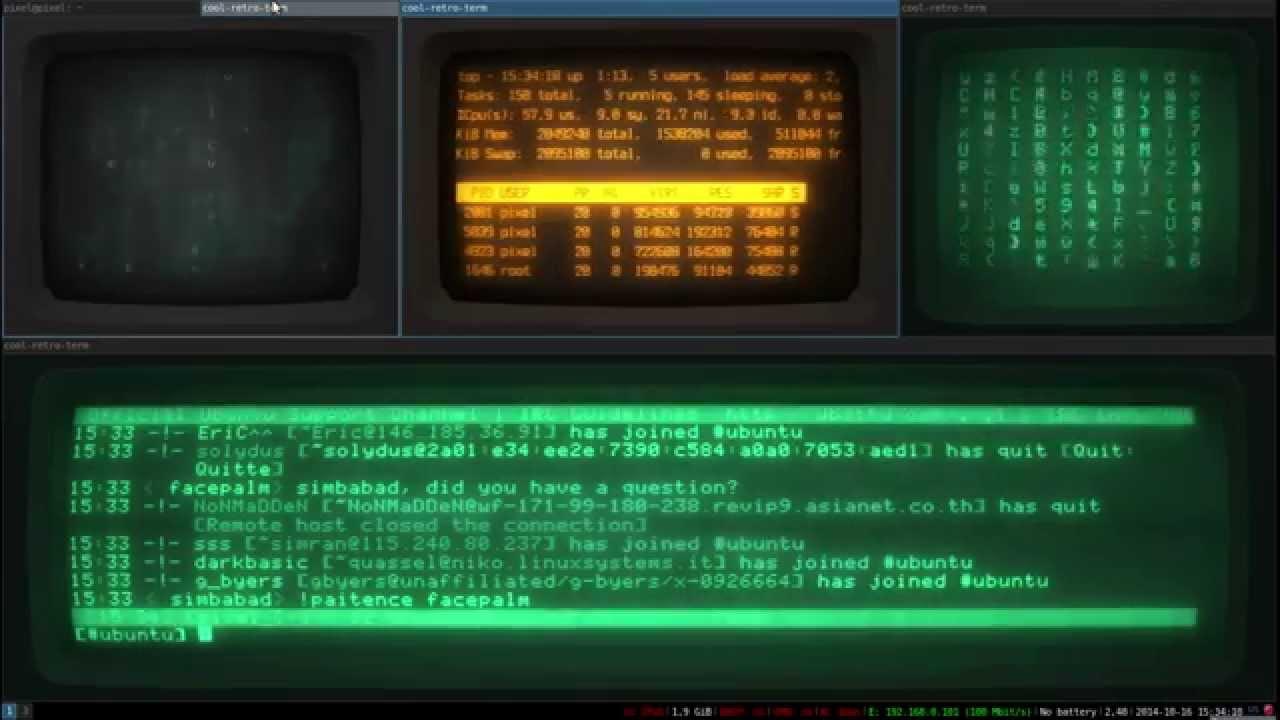 cyberpunk linux 2 (i3 + CRT cool-retro-term)