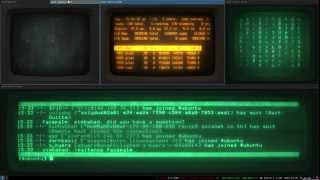 cyberpunk linux 2 i3 crt cool retro term