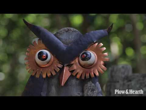 Rustic Metal Owl Statue SKU# 65C89 - Plow & Hearth