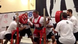 Dan Green World Record Squat 783lbs at 220 lbs