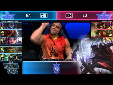 NA Vs EU - Show Match (ft. Tyler1, Yassuo)   Day 1 2019 LoL All Star Event