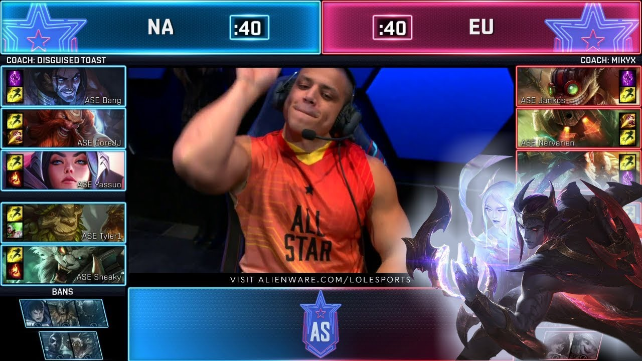 NA vs EU - Show Match (ft. Tyler1, Yassuo) | Day 1 2019 LoL All Star Event