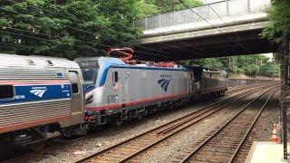 Amtrak HD 60fps: Siemens ACS-64 670 First Revenue Run as Double Header on Train 137 Behind 649