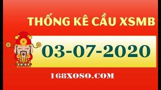 Thống kê cầu đẹp xổ số Miền Bắc - Hải Phòng Thứ 6 ngày 03-07-2020